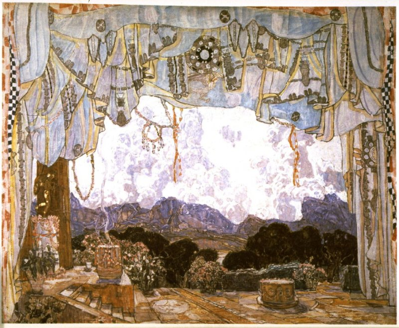Stage set design for act 1 of the opera Orphée