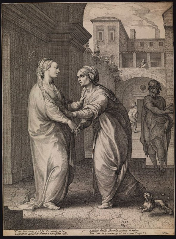 The Visitation, from the Life of the Virgin