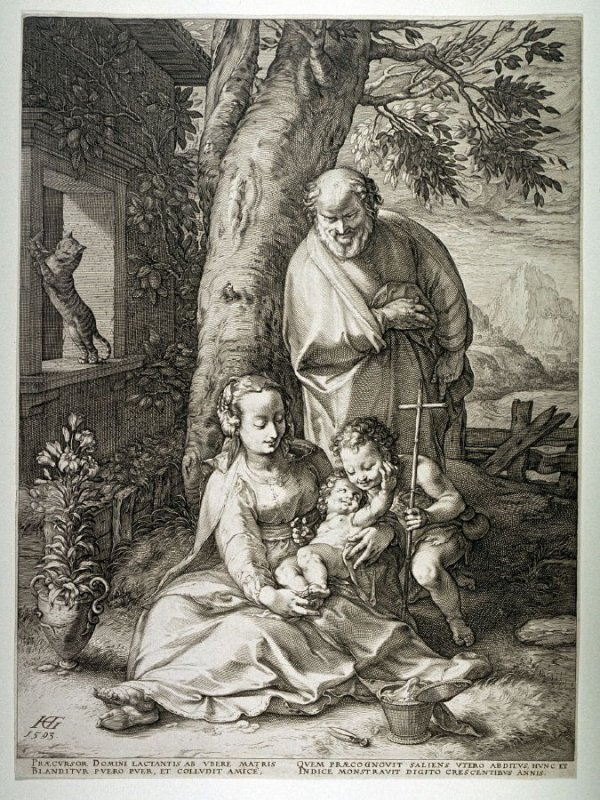 The Holy Family with St. John the Baptist from the Life of the Virgin