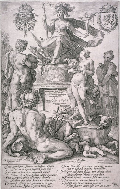 Roma (Frontispiece from The Roman Heroes)