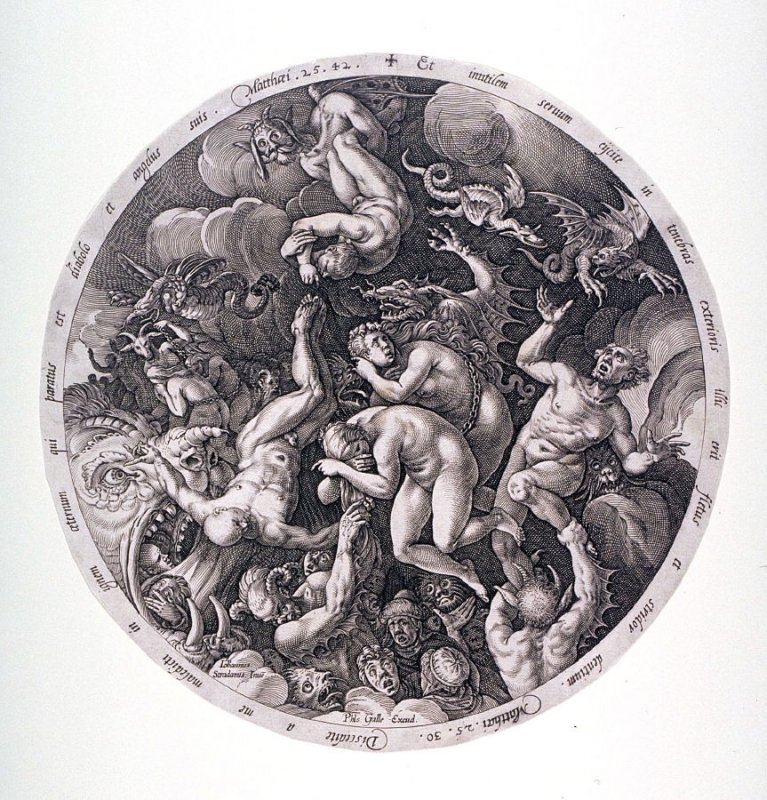 The Descent to Hell of the Damned from The Last Judgment