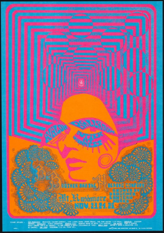 """""""Optical Occlusion,"""" Big Brother and the Holding Company, Mt. Rushmore, November 23 - 25, Avalon Ballroom"""