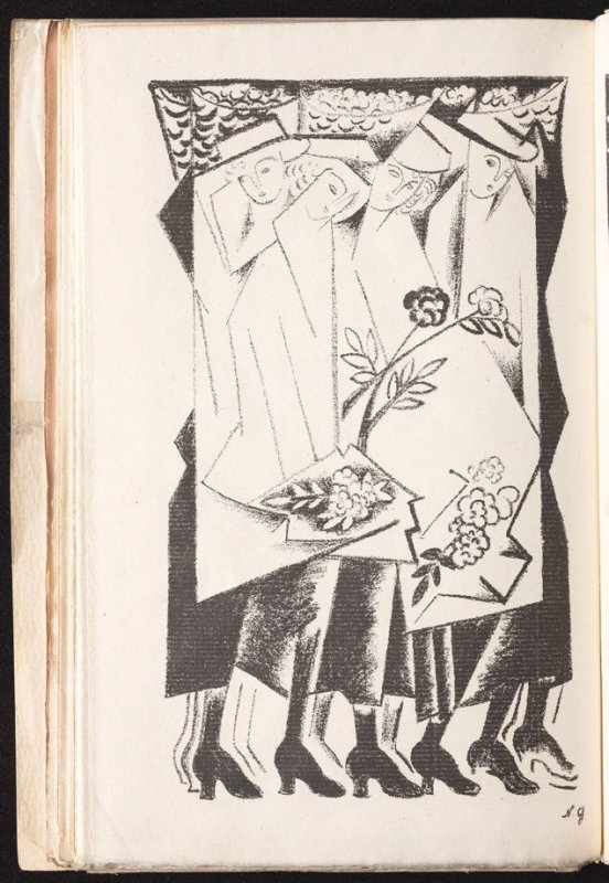 Untitled, between pgs. 47 and 48, in the book Gorod: Stikhi (The City: Verse) by Nicolay Rubakin (Paris: unknown, 1920)