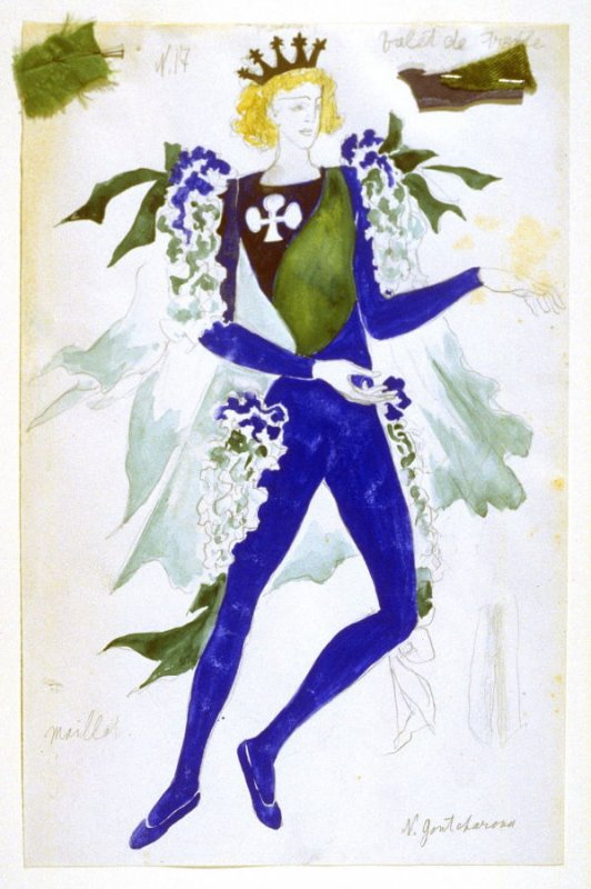 Costume for a Male Dancer in a Shamrock Patterned Costume