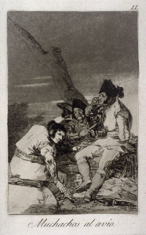 Muchachos al avío (Lads Making Ready) , plate 11 from the series Los Caprichos (Caprices)