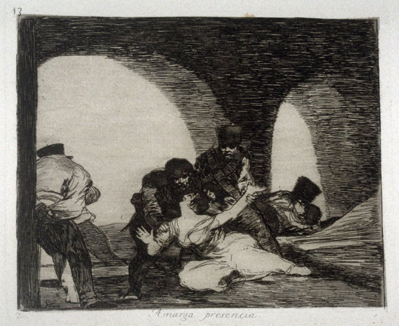 Amarga presencia (Bitter To Be Present), pl. 13 from the series Los desastres de la guerra (The Disasters of War)