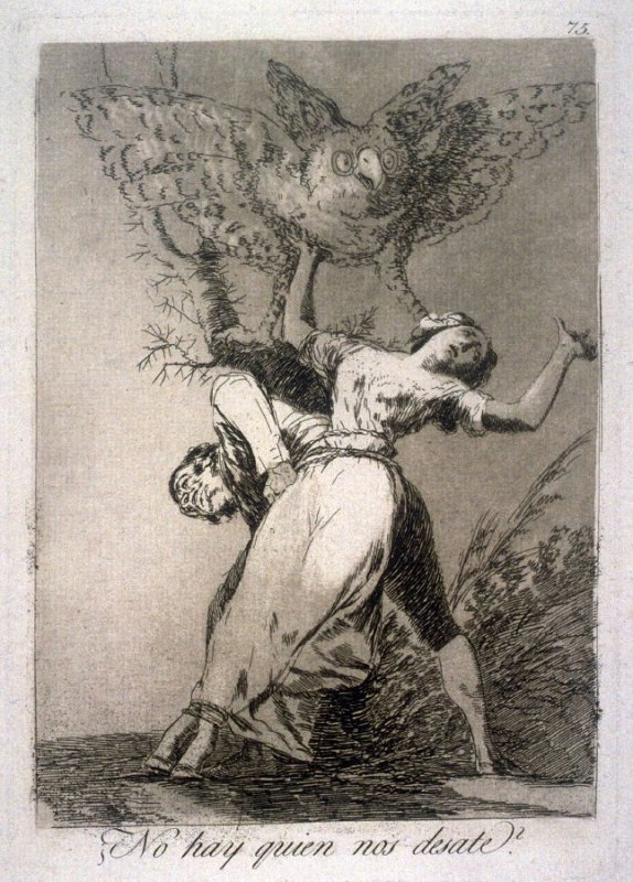 No hay quien nos desate? ( Can't Anyone Untie Us ? ), plate 75 from the series Los Caprichos (Caprices)