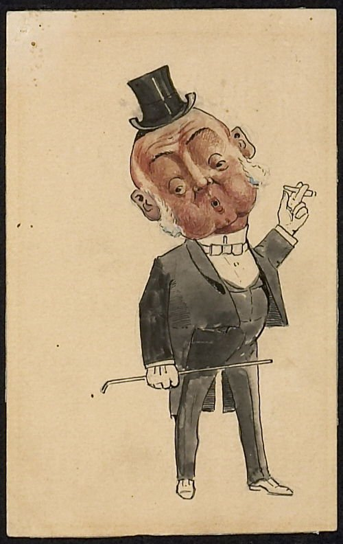 Illustration of man in tux and top-hat