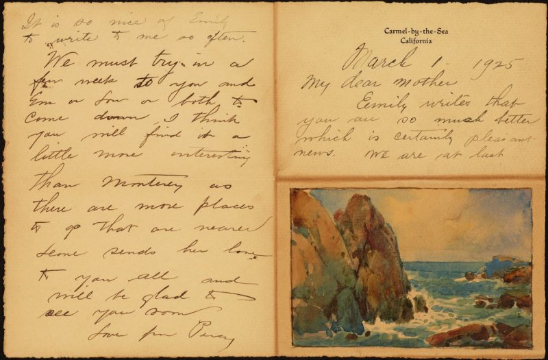 My Dear Mother: Illustrated Letter to Elizabeth Gray, March 1, 1925