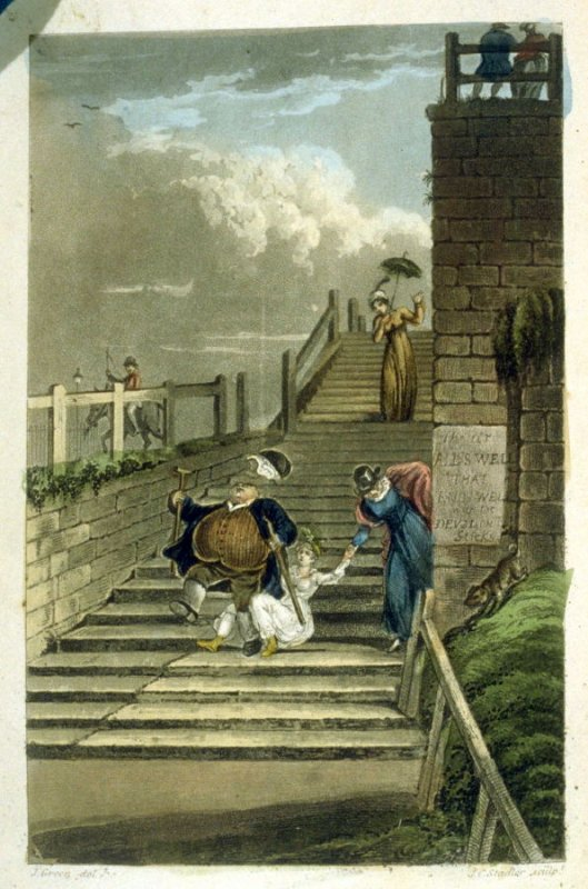 Terrace Steps, plate opposite page 177 in the book, [Poetic Sketches of Scarborough (London: R. Ackermann, 1813)]