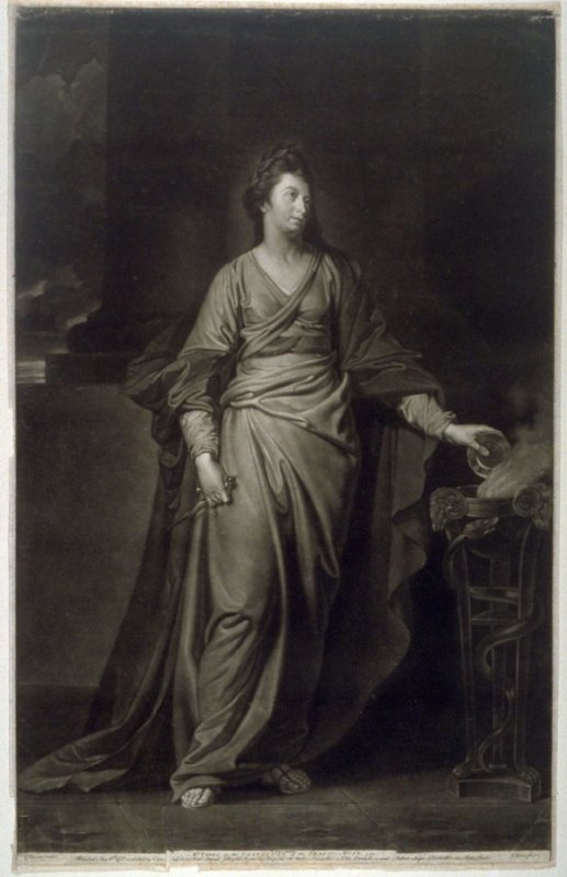 Mrs Yates in the character of the Tragic Muse