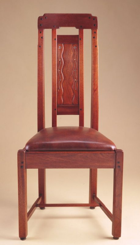 Side chair for the Robert R. Blacker House, Pasadena, California