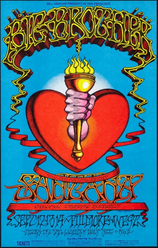 Big Brother & the Holding Company, Santana, Chicago Transit Authority, September 12 - 14, Fillmore West