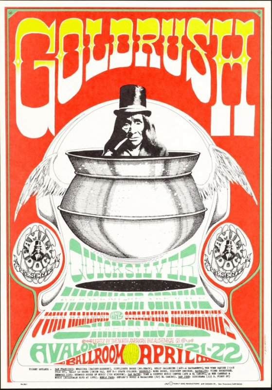 """Pot,"" Quicksilver Messenger Service, John Hammand and His Screaming Nighthawks, Charles Lloyd, April 21 & 22, Avalon Ballroom"
