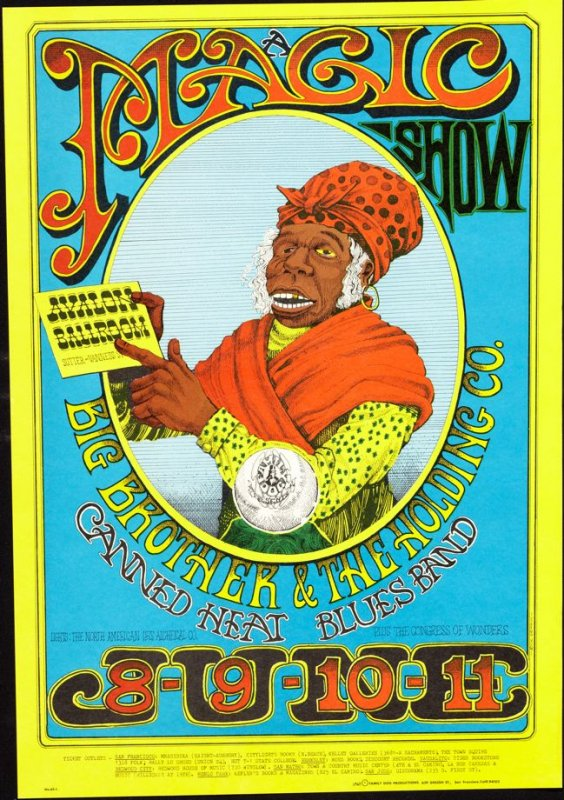 """""""Magic Show,"""" Big Brother and the Holding Company, Canned Heat Blues Band, June 8 - 11, Avalon Ballroom"""