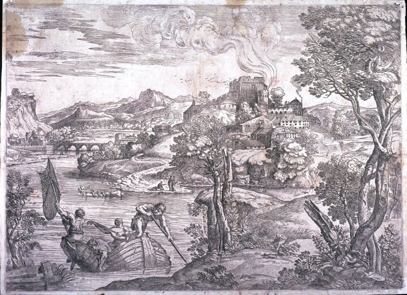 Landscape with a Lute Player, after Titian