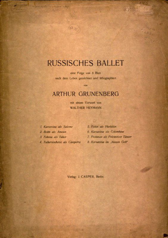 Title page: Russisches Ballet