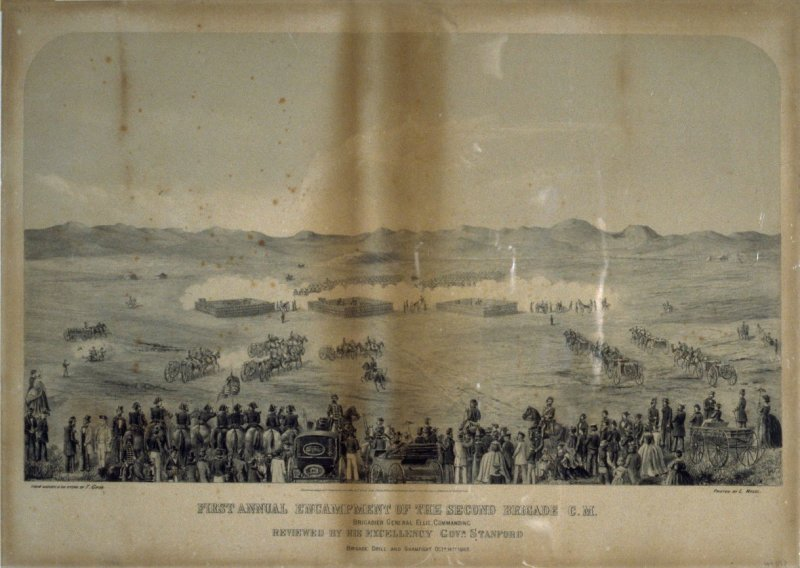 First Annual Encampment of the Second Brigade, C.M. Brigade Drill and Sham Fight, October 14, 1863