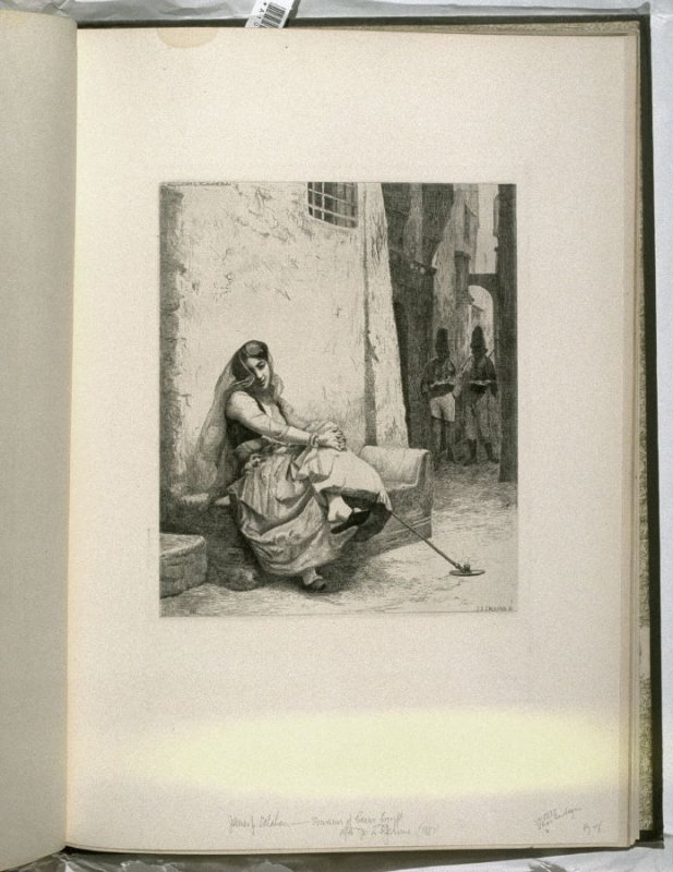 Souvenir of Cairo, plate at p. 49 in the book, Representative Etchings by Artists of To-day in America (New York: Frederick A. Stokes, 1887)