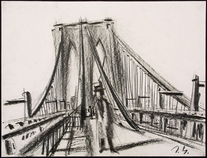 Untitled (Brooklyn Bridge Scene)