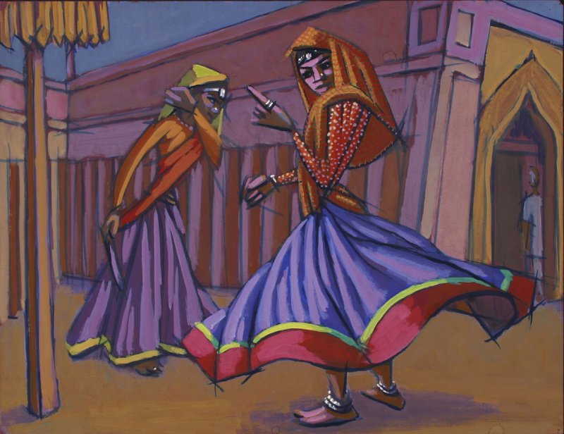 Untitled (Two Dancing Female Figures, North Africa (?))