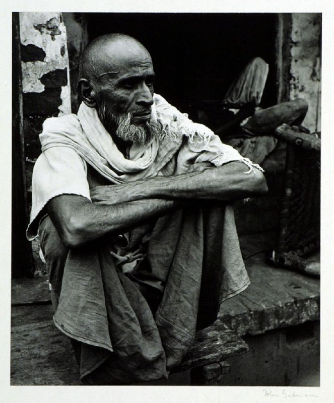 Moslem shopkeeper in a Bengal village.