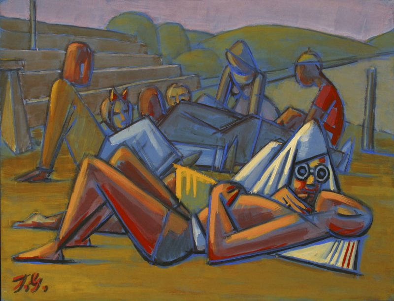 Untitled (Seated and Reclining Figures)