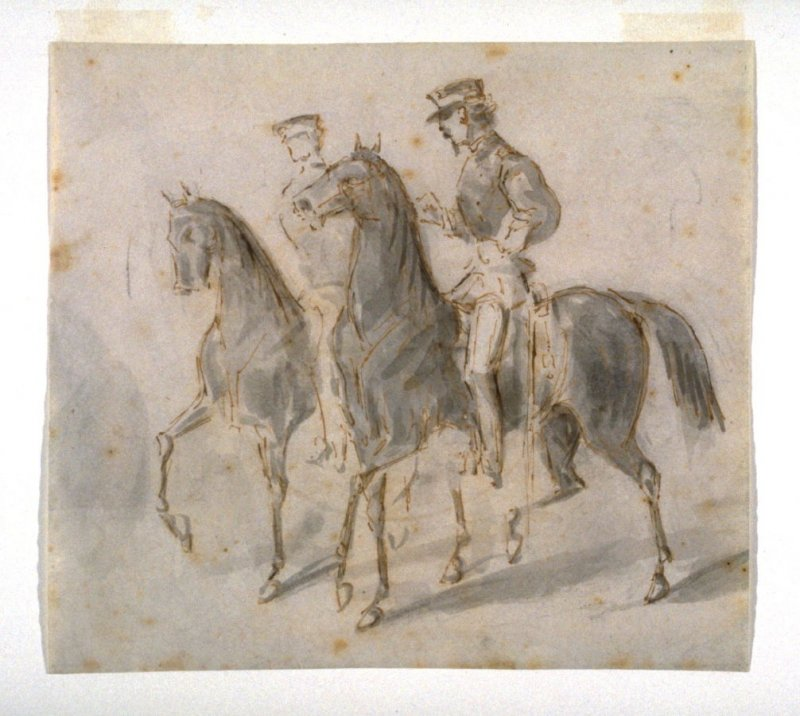 Two Mounted Officers