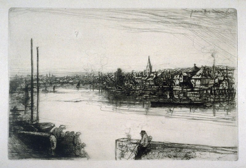 Battersea Reach (Old Chelsea out of Whistler's window)