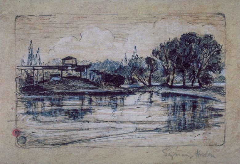 Study for the etching Railway Encroachment
