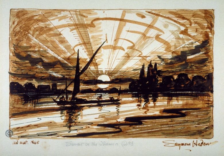 Study for Sunset on the Thames