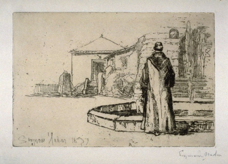 Monk at a Fountain