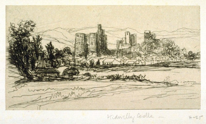 Kidwelly Castle - From the Portfolio Études à l'eau-forte (with text by Philippe Burty), page 9