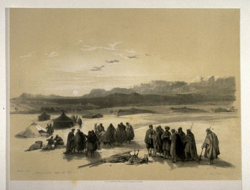 Encampment of the Alloeen in Wady Araba - The Holy Land