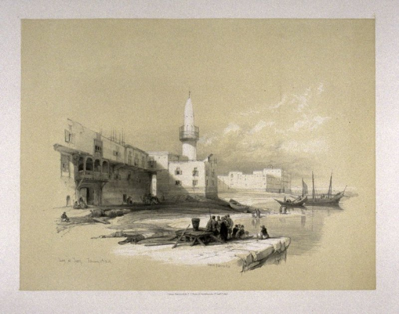 Scene on the Quay of Suez - The Holy Land