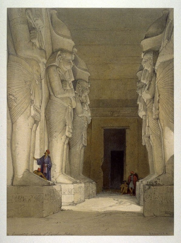Excavated Temple at Gyrshe - Egypt