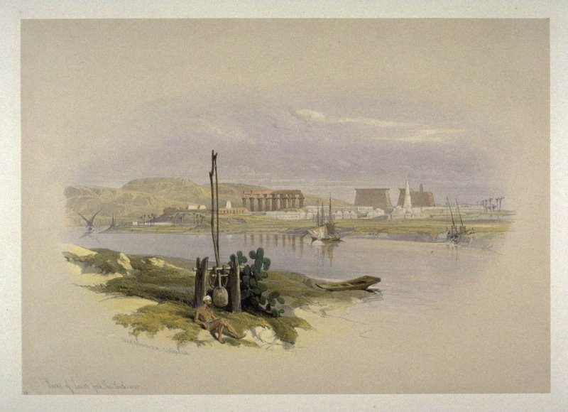 Ruins of Luxor from the South West- Egypt