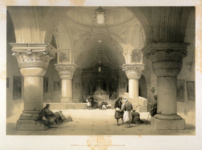 Crypt of the Holy Sepulchre, Jerusalem - The Holy Land