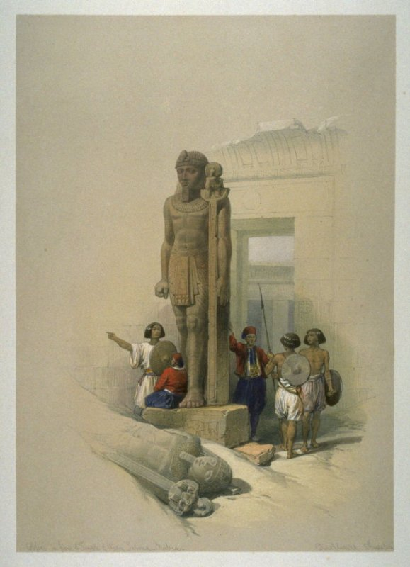 Colossus in Front of the Wady Saboua, Nubia - Egypt