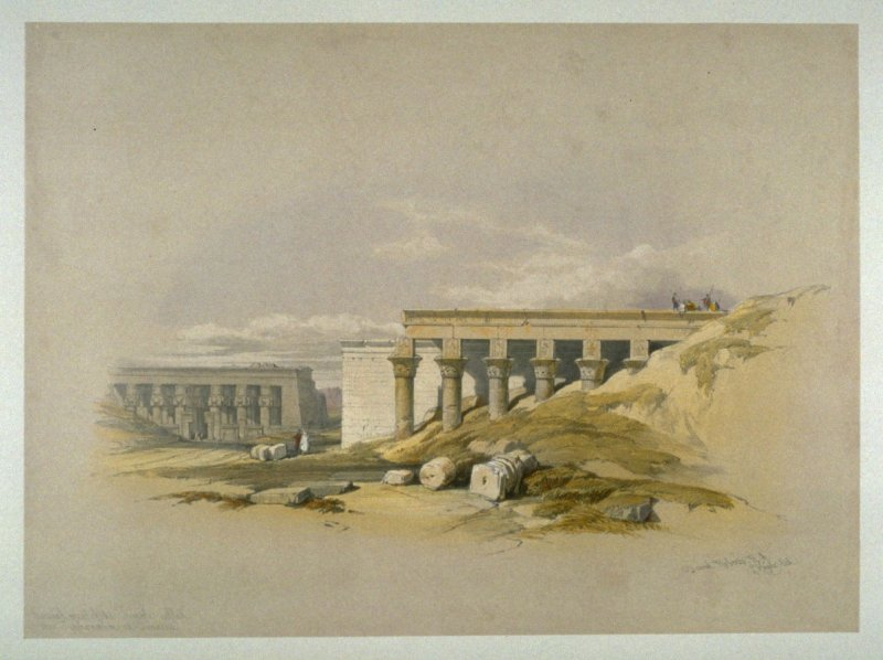 Lateral View of the Temple called the Typhonaeum at Dendera - Egypt