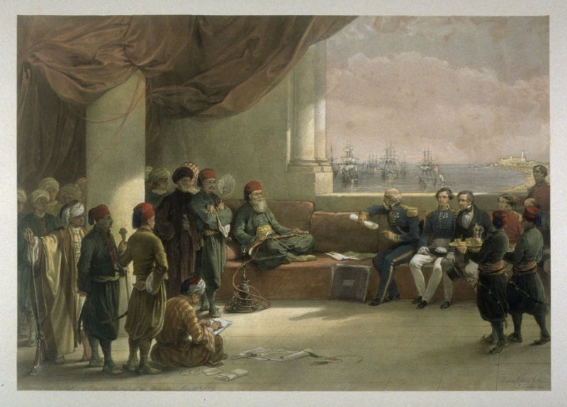 Interview with the Vicery of Egypt in Alexandria - Egypt