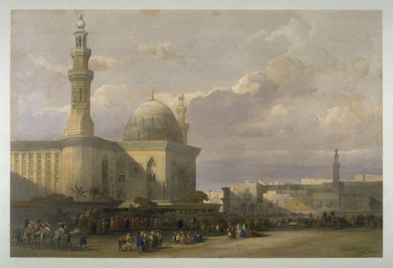 Mosque of the Sultan Hassan from the Great Square of the Rameyleh - Egypt