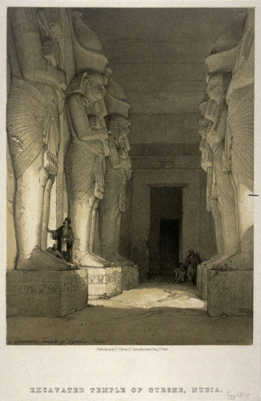Excavated Temple of Gyrshe - Egypt