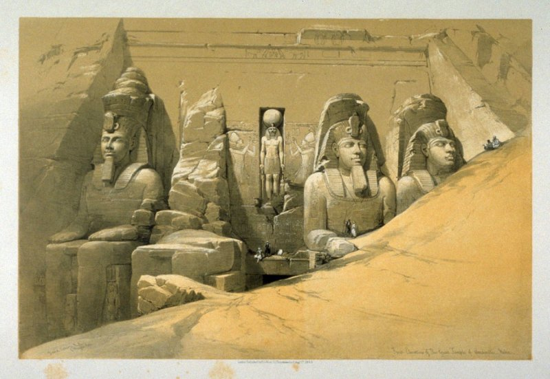 Front Elevation of the Great Temple of Aboo-Simble - Egypt