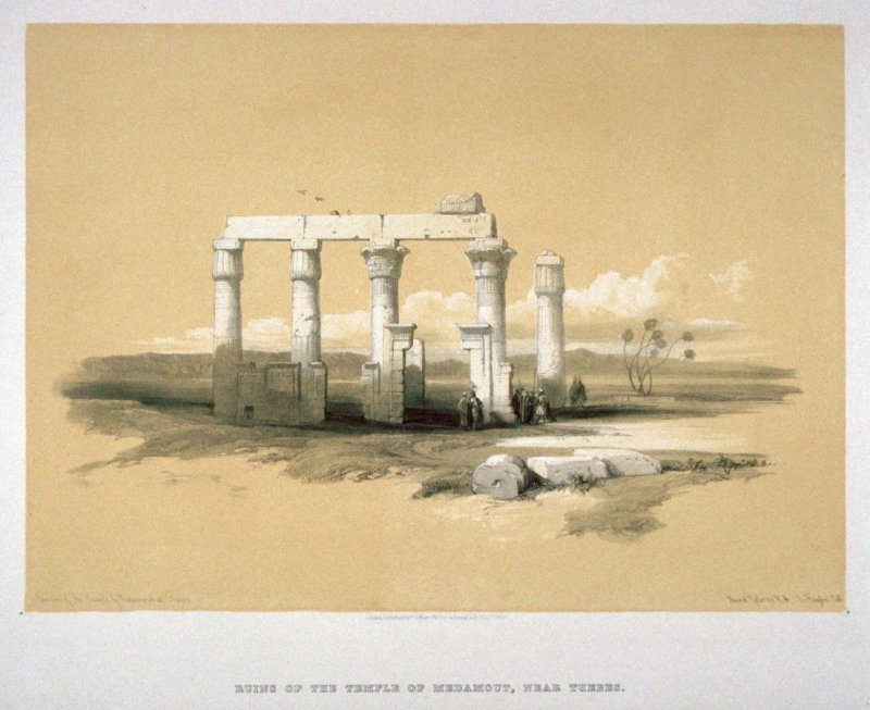 Ruins of the Temple of Medamout, near Thebes - Egypt