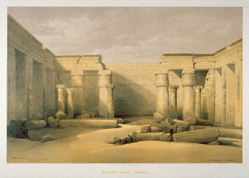 Medinet Abou, Thebes - Egypt