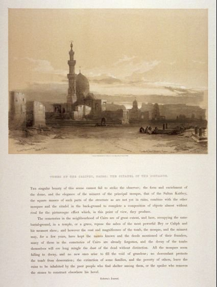 Tombs of the Caliphs, Cairo: the Citadel in the Distance - Egypt