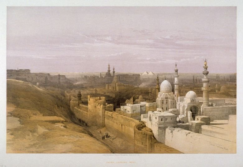 Cairo, Looking West- Egypt