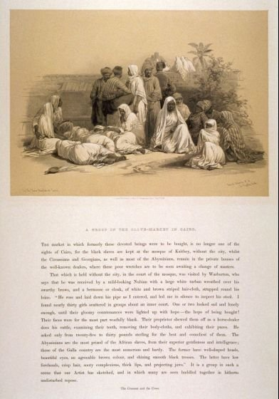 A Group in the Slave Market in Cairo - Egypt