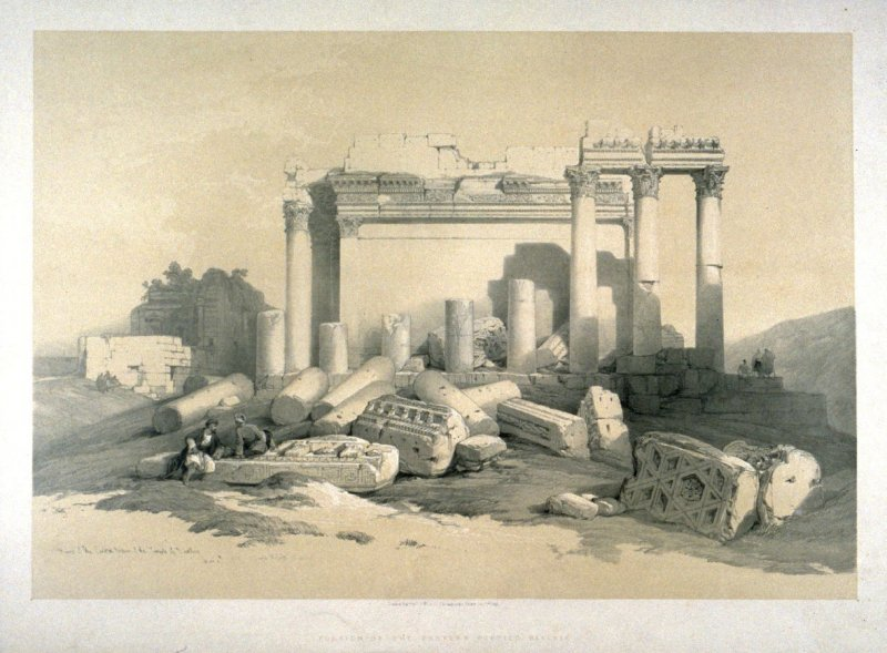Portion of the Eastern Portico, Baalbec - The Holy Land